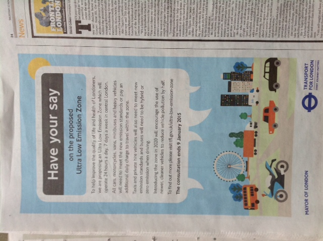 CAL 294 ULEZ advert Evening Standard 131114_Higher resolution